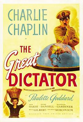 The Great Dictator - 1940 Poster by Georgia Fowler