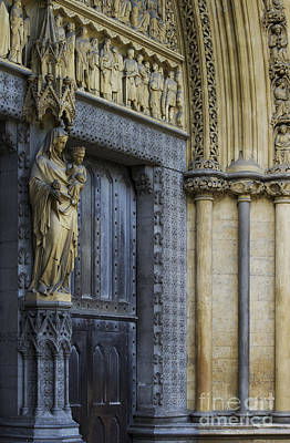 The Great Door Westminster Abbey London Poster by Tim Gainey