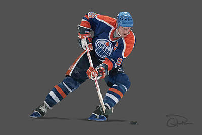 Gretzky Poster by Charley Pallos