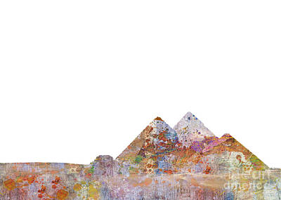 The Great Pyramids Colorsplash Poster by Aimee Stewart