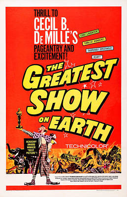 The Greatest Show On Earth, Us Poster Poster by Everett