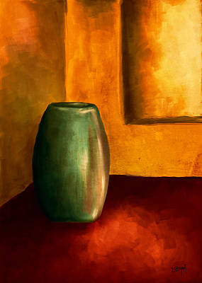 The Green Urn Poster by Brenda Bryant