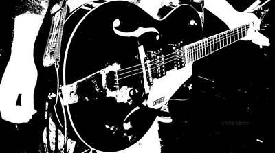 The Gretsch Guitar Poster by Chris Berry