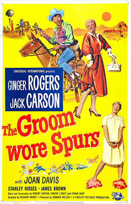 The Groom Wore Spurs, Us Poster Poster by Everett