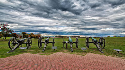 The Guns Of Antietam Poster by John M Bailey