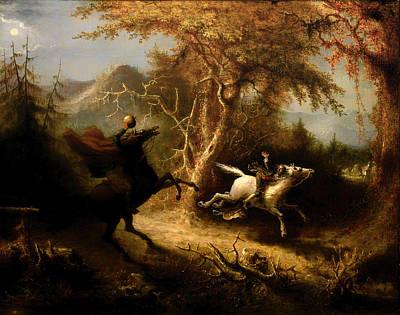 The Headless Horsemen Pursuing Ichabod Crane Poster by Mountain Dreams