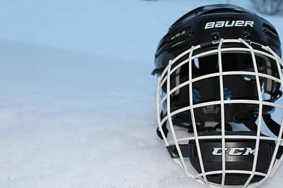 The Hockey Helmet Poster by Danielle Allard