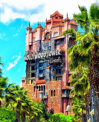 The Hollywood Tower Hotel Walt Disney World Poster by Thomas Woolworth