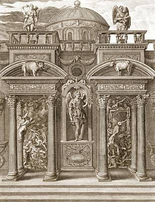 The House Of Sleep, 1731 Poster by Bernard Picart