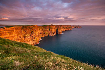 The Iconic Cliffs Of Moher At Sunset On The West Coast Of Ireland Poster by Pierre Leclerc Photography