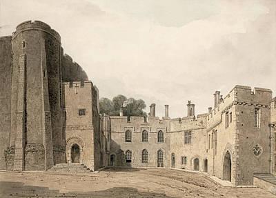 The Inner Court Of Berkeley Castle Poster by John Chessell Buckler