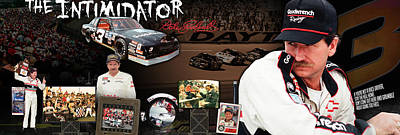 The Intimidator Dale Earnhardt Panoramic Poster by Retro Images Archive