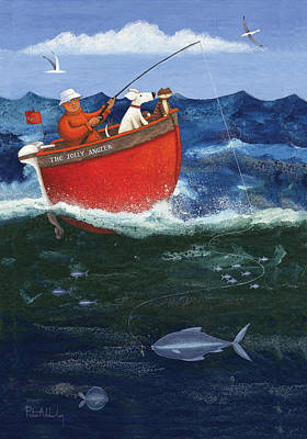 The Jolly Angler Poster by Peter Adderley