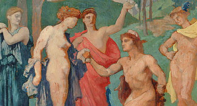 The Judgement Of Paris Poster by Jules Elie Delaunay