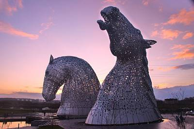The Kelpies Poster by Nik Watt