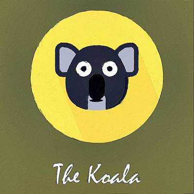 The Koala Cute Portrait Poster by Florian Rodarte