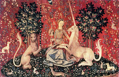The Lady And The Unicorn, 15th Century Poster by Photo Researchers