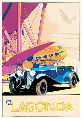 The Lagonda Poster by Brian James