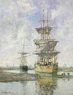 The Large Ship Poster by Eugene Louis Boudin