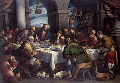 The Last Supper Poster by Francesco Bassano