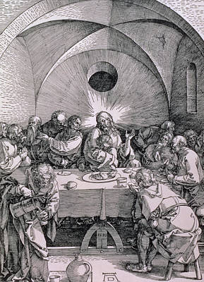 The Last Supper From The 'great Passion' Series Poster by Albrecht Duerer
