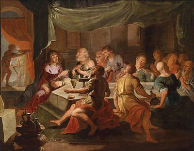 The Last Supper Poster by Willem van Herp the Elder