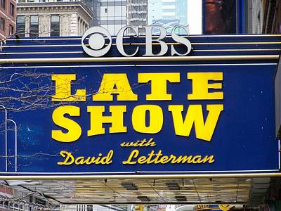 The Late Show With David Letterman Poster by Kenneth Summers