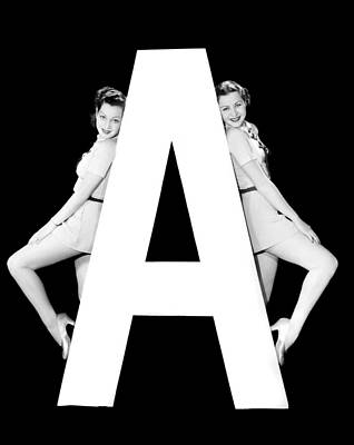The Letter a And Two Women Poster by Underwood Archives