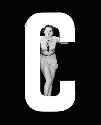 The Letter c And A Woman Poster by Underwood Archives