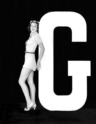 The Letter g And A Woman Poster by Underwood Archives