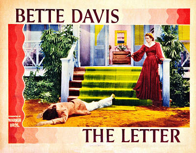 The Letter, Us Lobbycard, David Newell Poster by Everett