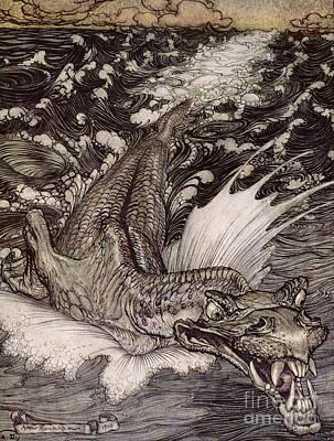 The Leviathan Poster by Arthur Rackham