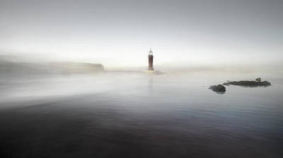 The Lighthouse Of Nowhere Poster by Santiago Pascual Buye
