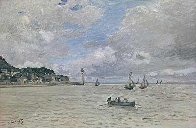 The Lighthouse Of The Hospice Honfleur, 1864  Poster by Claude Monet