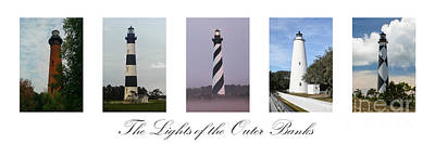The Lights Of The Outer Banks Poster by Tony Cooper