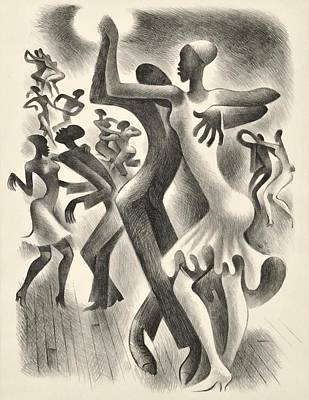 The Lindy Hop Poster by  Miguel Covarrubias