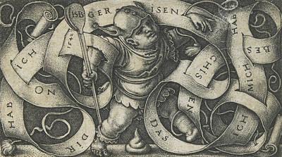 The Little Buffoon Poster by Hans Sebald Beham