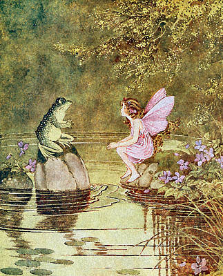 The Little Green Road To Fairyland  Poster by Ida Rentoul Outhwaite