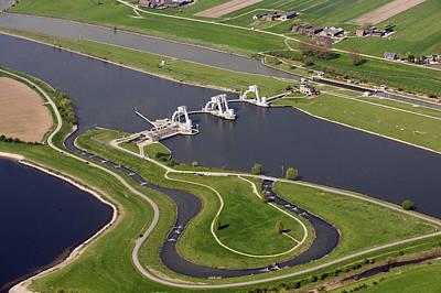The Lock And Weir Complex Amerongen Poster by Bram van de Biezen