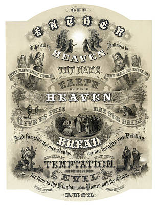 The Lords Prayer - 1876 Poster by Daniel Hagerman