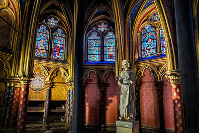 The Lower Chapel Of Sainte-chapelle Poster by Tim Stanley