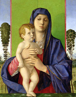 The Madonna Of The Trees Poster by Giovanni Bellini