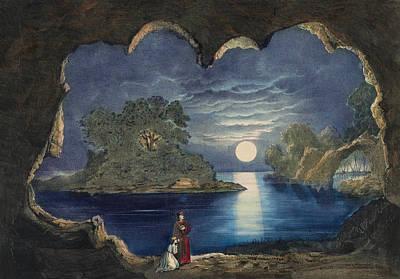 The Magic Lake Circa 1856  Poster by Aged Pixel