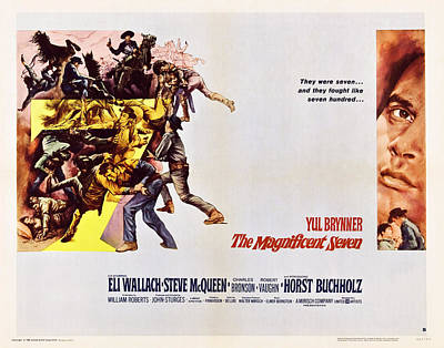 The Magnificent Seven, Us Poster Art Poster by Everett