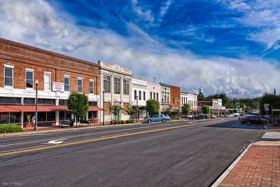 The Main Street - Montezuma Georgia Poster by Mark E Tisdale