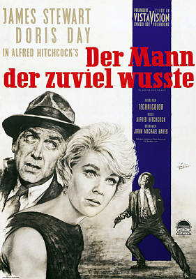 The Man Who Knew Too Much, Aka Der Mann Poster by Everett