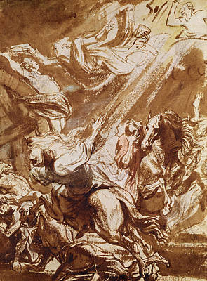 The Martyrdom Of Saint Catherine Poster by Sir Anthony van Dyck