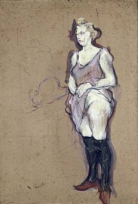 The Medical Inspection Blonde Prostitute, 1894 Oil On Card Poster by Henri de Toulouse-Lautrec