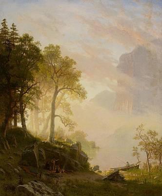 The Merced River In Yosemite Poster by Albert Bierstadt