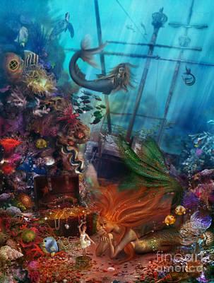 The Mermaids Treasure Poster by Aimee Stewart